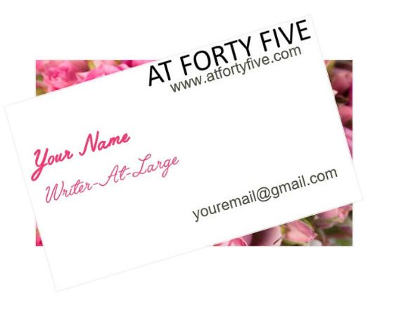 Incentives At Forty Five #beawriter