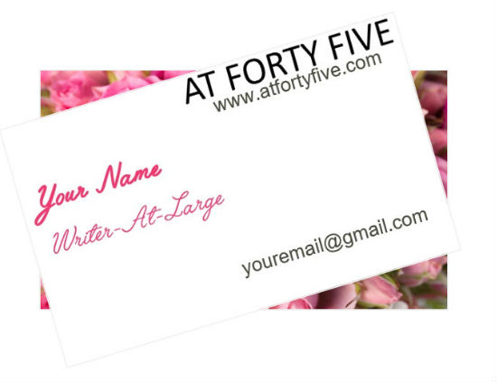 Incentive #beawriter Business Card