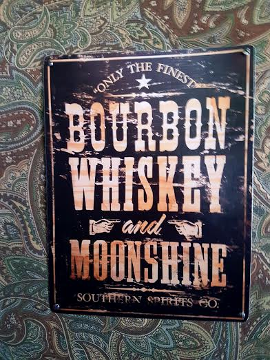 At Forty Five Bourbon Sign