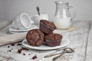 Chocolate Chocolate Chip Banana Muffins