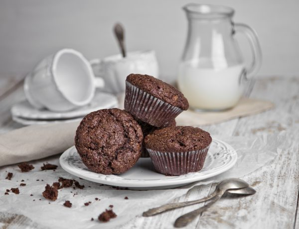 Chocolate Chocolate Chip Banana Muffins