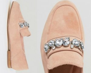 At Forty Five Nude-River-Island-embellished-suede-loafer