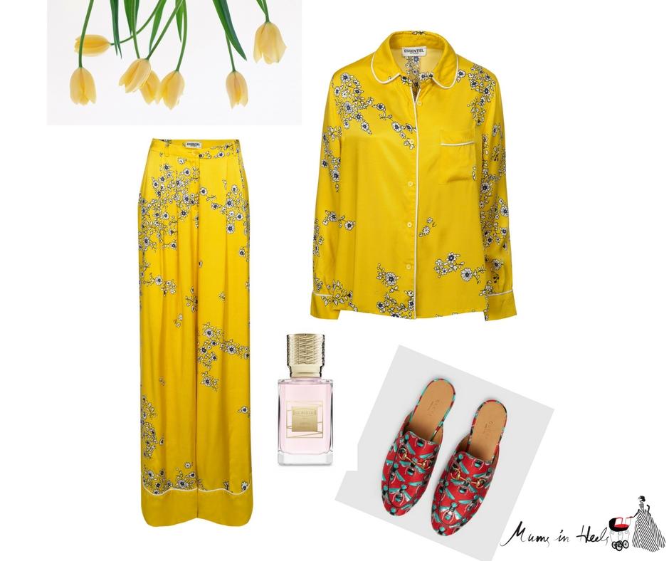 Pajama Dressing Mums-In-Heels